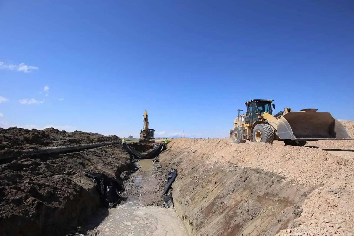 Utah Prison Offsite Utility Construction backfill on installed utilites