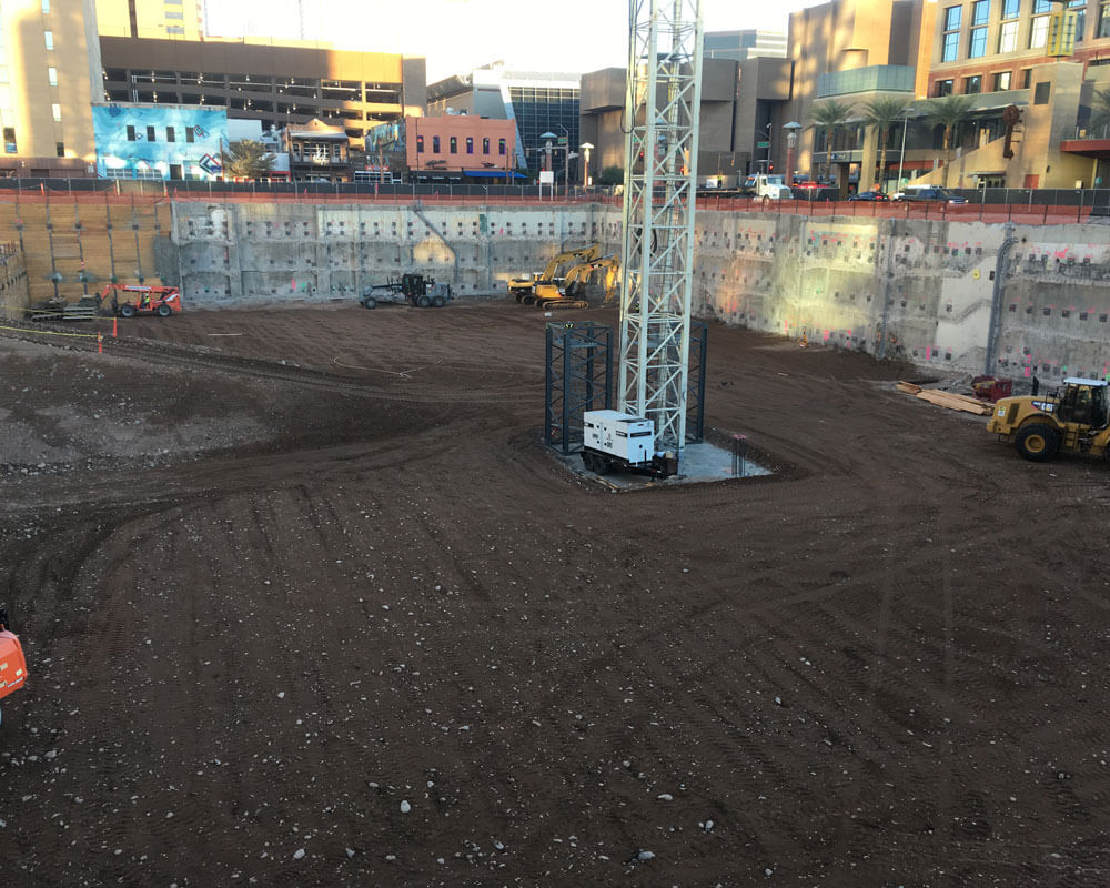 Excavation and Shoring at the Block 23 Project