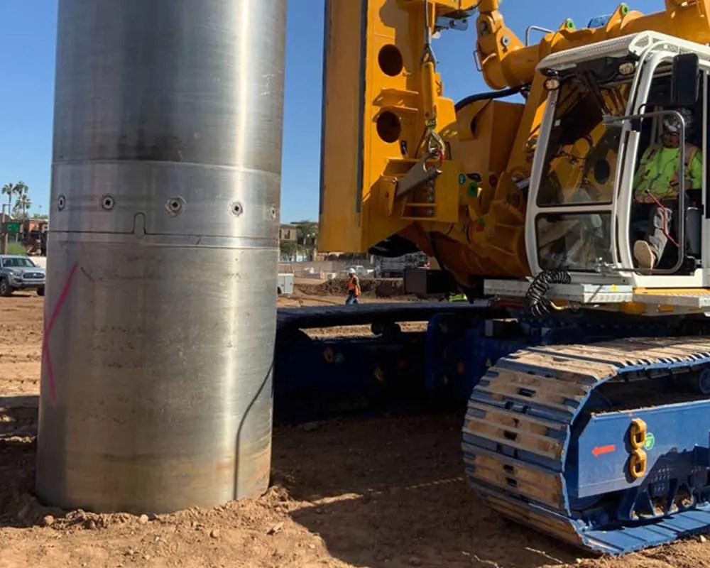 Arizona State University Job Site drilling utilizing segmental casing