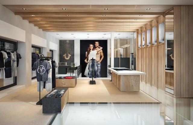 True Religion London store rendering