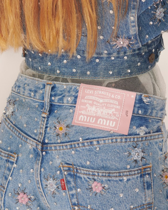 Upcycled by Miu Miu in collaboration with Levi's