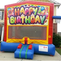 Minnie Table And Chairs Detroit Tigers Chair Happy Birthday Bounce House - The Fun Train Party Rentals
