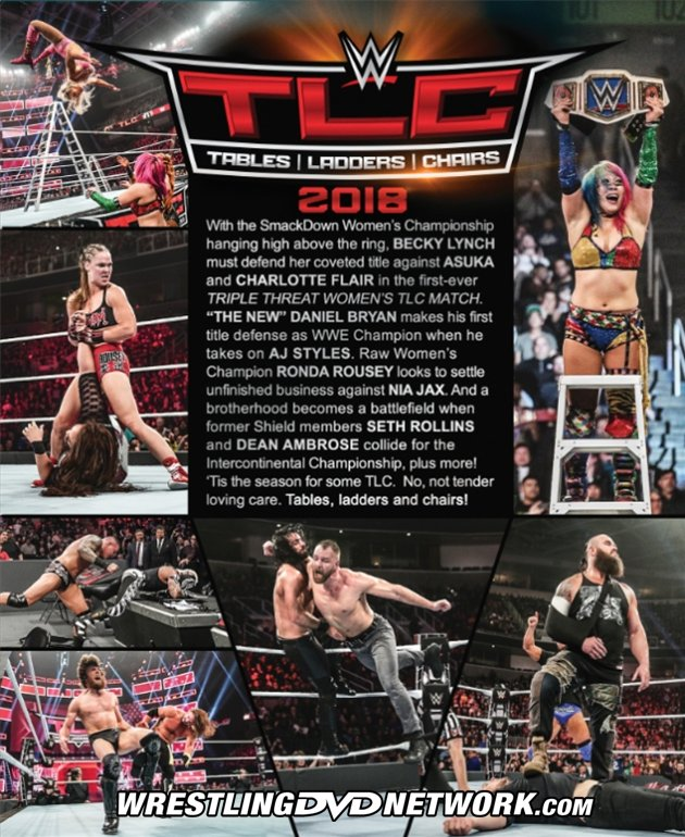 what are wwe chairs made of jeep camping exclusive official cover artwork extras list for tlc tables ladders 2018 dvd back