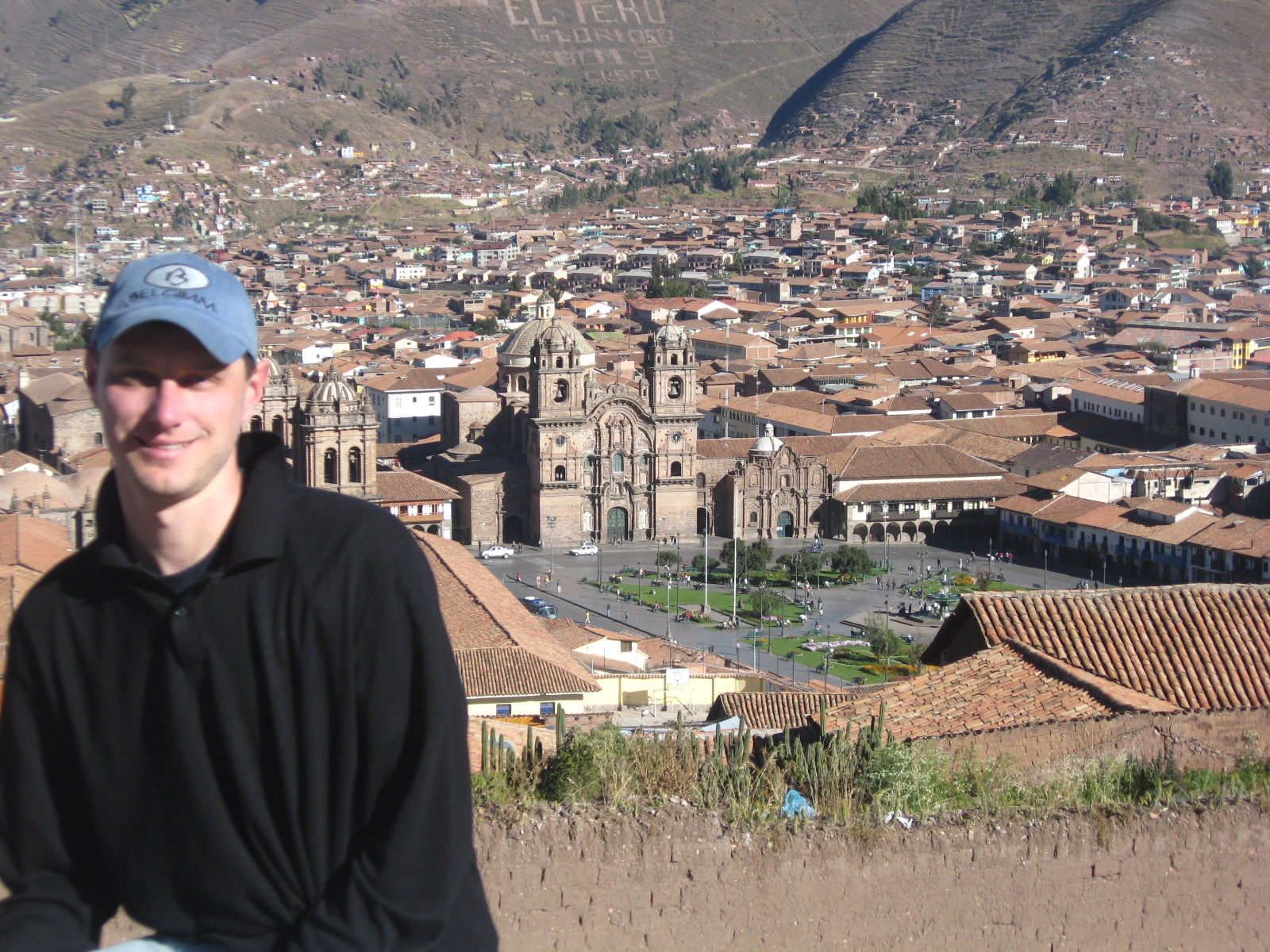 Ward Welvaert, overlooking the Plaza de Armas in Cusco, Peru.
