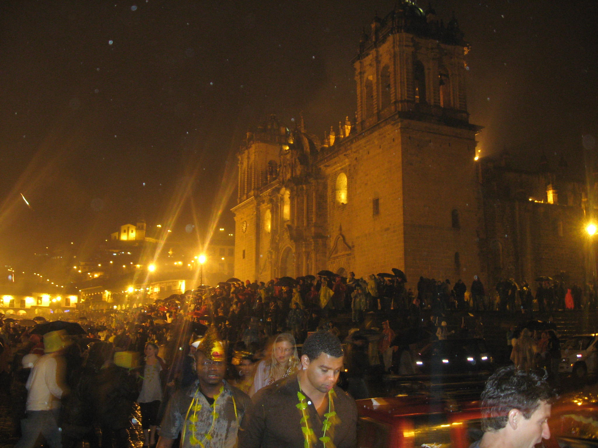 The famous Maria Angola bell on the Cusco Cathedral rings in the New Year