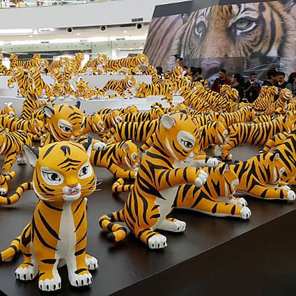CAMBODIA #ThumbsUpForTigers under International Tiger Day
