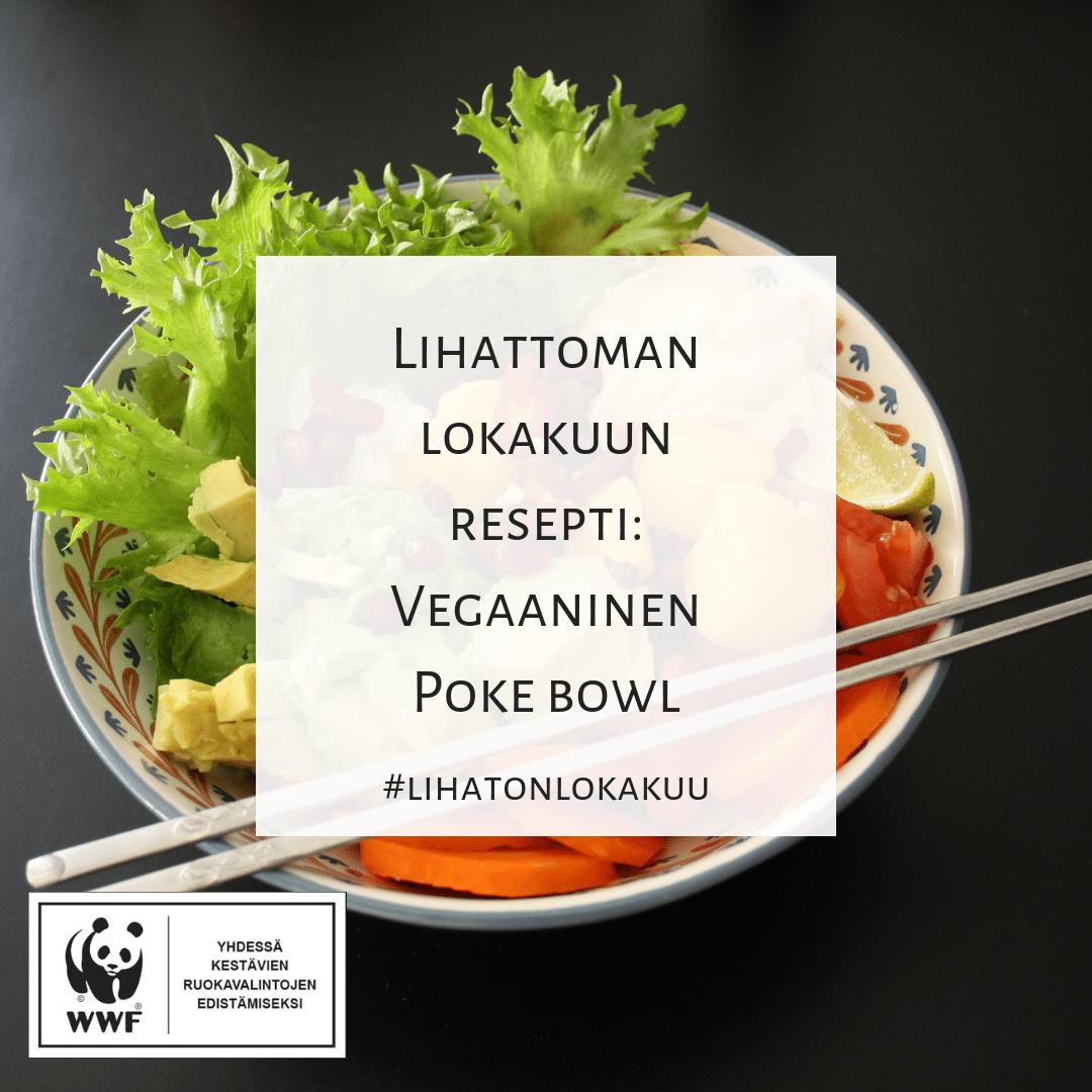 Vegaaninen Poke bowl