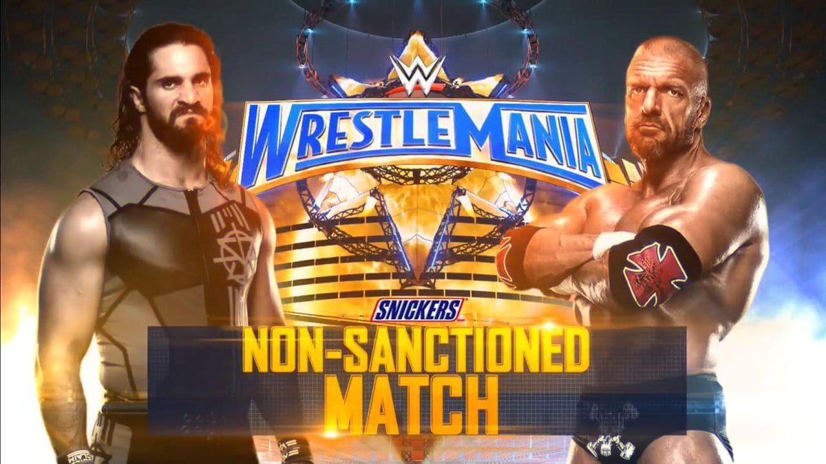 Image result for wrestlemania 33 NON-SANCTIONED MATCH Triple H vs. Seth Rollins