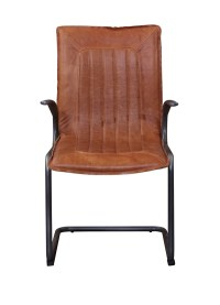vintage upholstery Iron leather club chairs supplier
