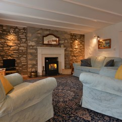 Cosy Living Room With Log Burner How To Organize Your Tegfan Traditional Welsh Cottage Near Beach Newport Sitting
