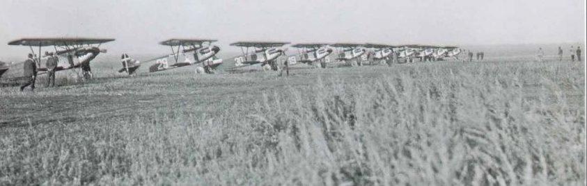 Истребители Fokker D.XIII в Липецке.