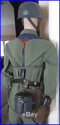 Complete Ww2 German Paratrooper Fallschirmjager Uniform Helmet Jump Smock Boots  Wwii German Helmet