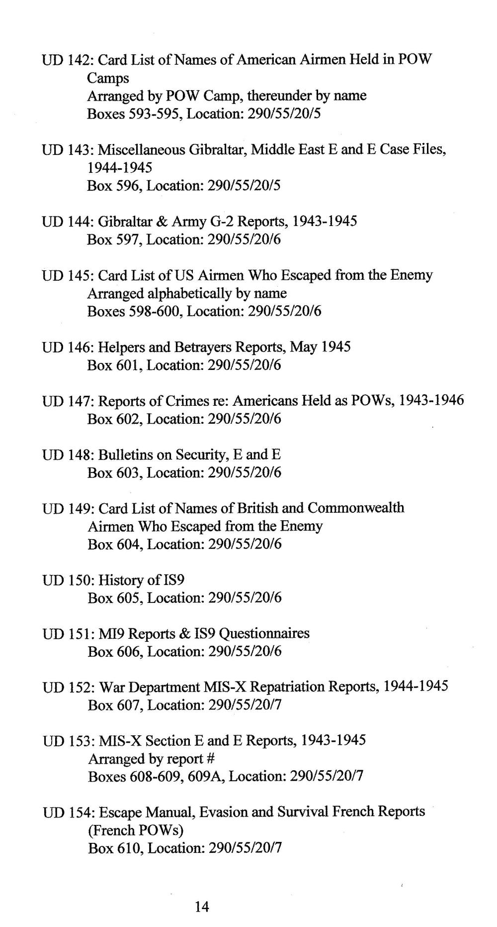 medium resolution of Index to Escape \u0026 Evasion Record Locations   WWII Netherlands Escape Lines
