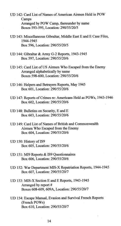 small resolution of Index to Escape \u0026 Evasion Record Locations   WWII Netherlands Escape Lines