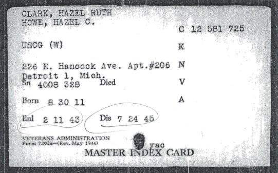 VA Index card