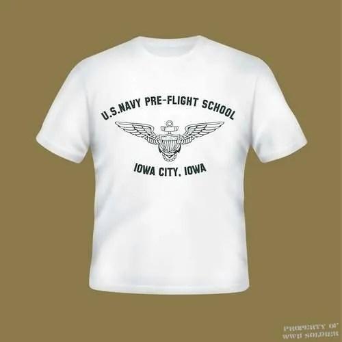 U S Navy Pre Flight School Iowa City Iowa Pt Shirt