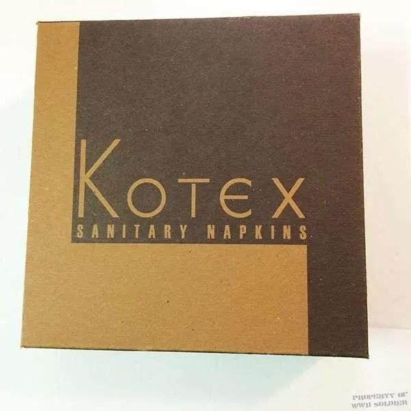 Kotex Sanitary Napkins - WWII Soldier
