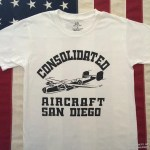 Consolidated Aircraft San Diego WWII T shirt reproduction sm