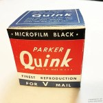 Quink Ink Bottle box wwii
