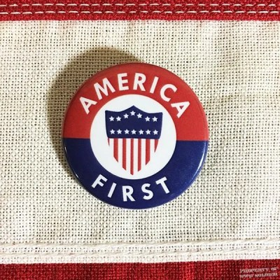 WWII America First Pin, WW2