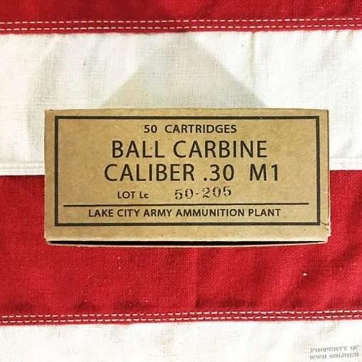WWII Ball Carbine Caliber .30 M1 Reproduction Box, ww2