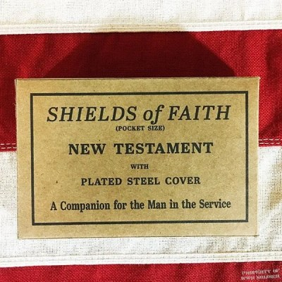 WWII Bible Box, ww2 Shields of Faith