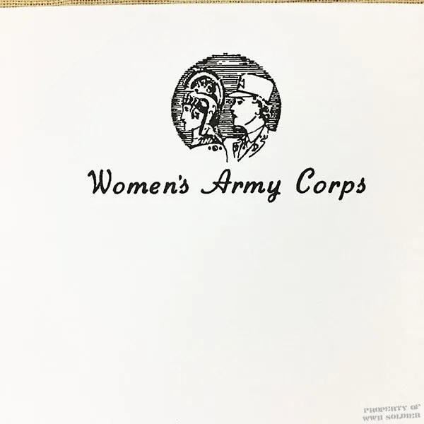 WWII WAC writing pad reproduction Women's Army Corps