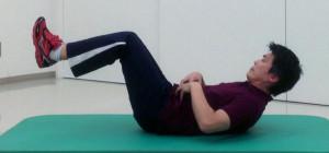 姿勢保持のための腹筋トレーニング経負荷