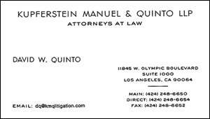 Quinto, David - Business Card