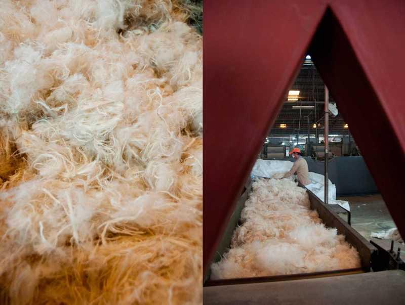 Dernière étape, les fibres sont transformées en Espagne pour leur donner cette texture si particulière.