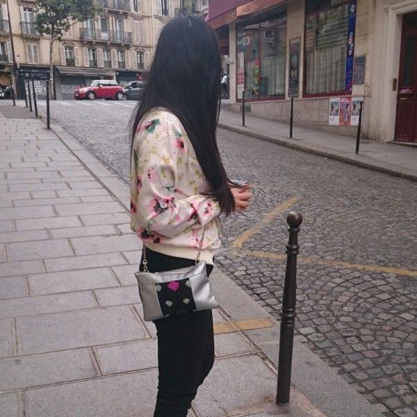 Idée de look avec le sac vegan Cassie Argenté de WWoW