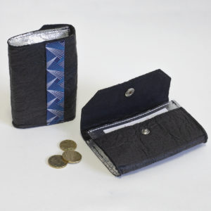 Vegan Black and Silver Piñatex® Phulan Wallet