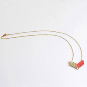 Victory Piñatex Necklace Gold Paprika