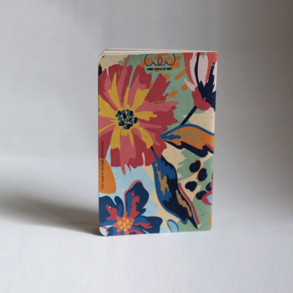 Recycled small banana leaf notebooks flowery