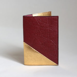 Delia Piñatex Passport Cover Mulberry & Gold * New!