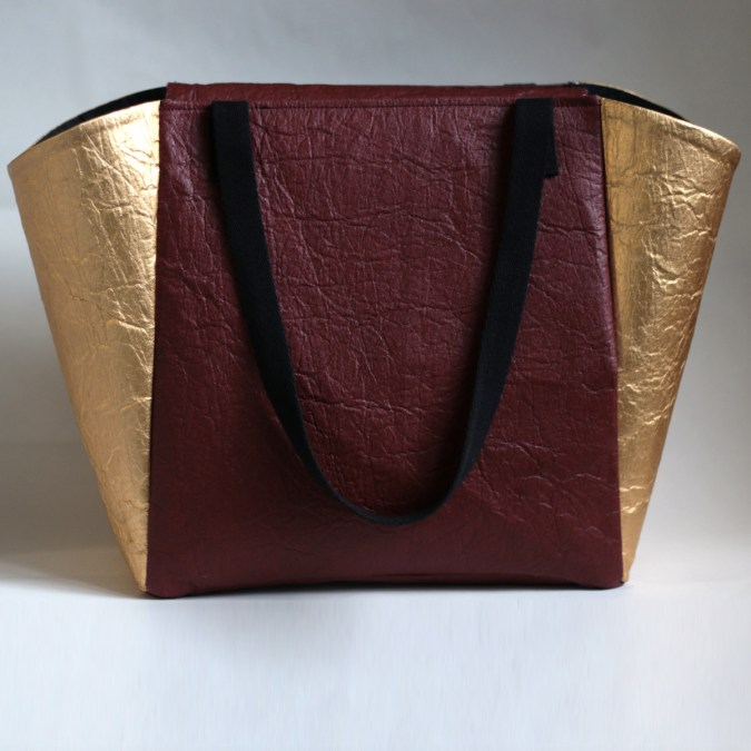 Piñatex Tote Bag Mulberry gold Leymah