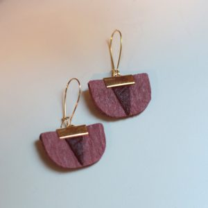 Daisy piñatex earrings pink mulberry