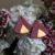 Boucles d'oreilles Créoles Piñatex Ethnic Rose & Doré