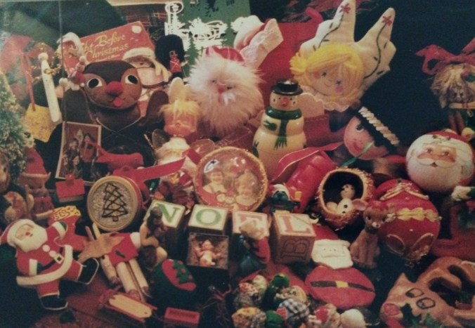 Several years ago my mom took this picture of some of our family's favorite Christmas things. The book Dad would read to us is at the upper left.