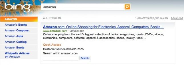 Bing Amazon