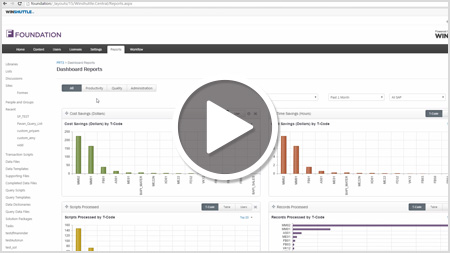 Automate Business Processes With Winshuttle Foundation