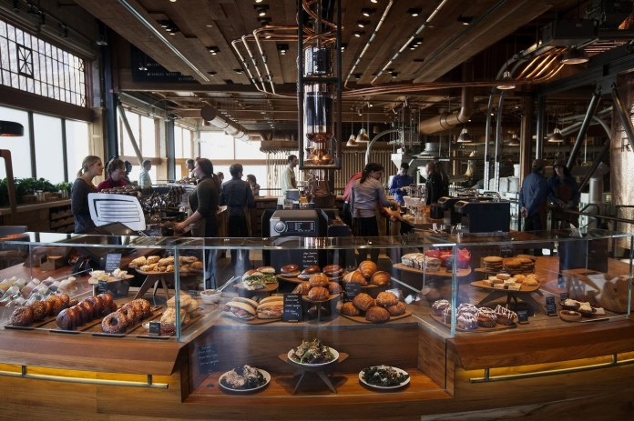 Baked goods are displayed at the Starbucks Reserve Roastery and Tasting Room in Seattle on Dec. 3, 2014.