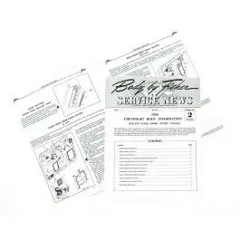 Chevy Manual, Fisher Service News, Number 2 Volume 15-6, 1956