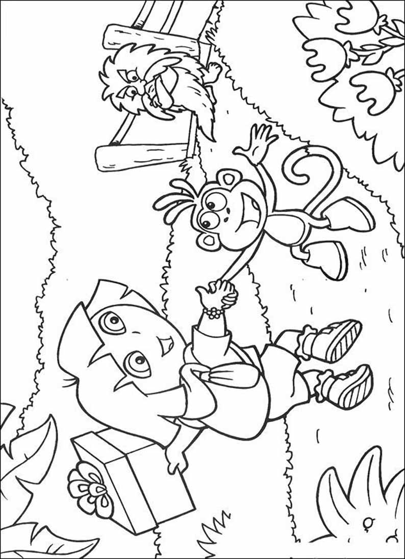 Coloring cartoon Dasha tracker free!