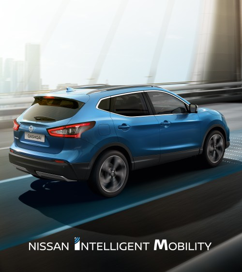 small resolution of nissan qashqai circulant en ville avec logo nissan intelligent mobility