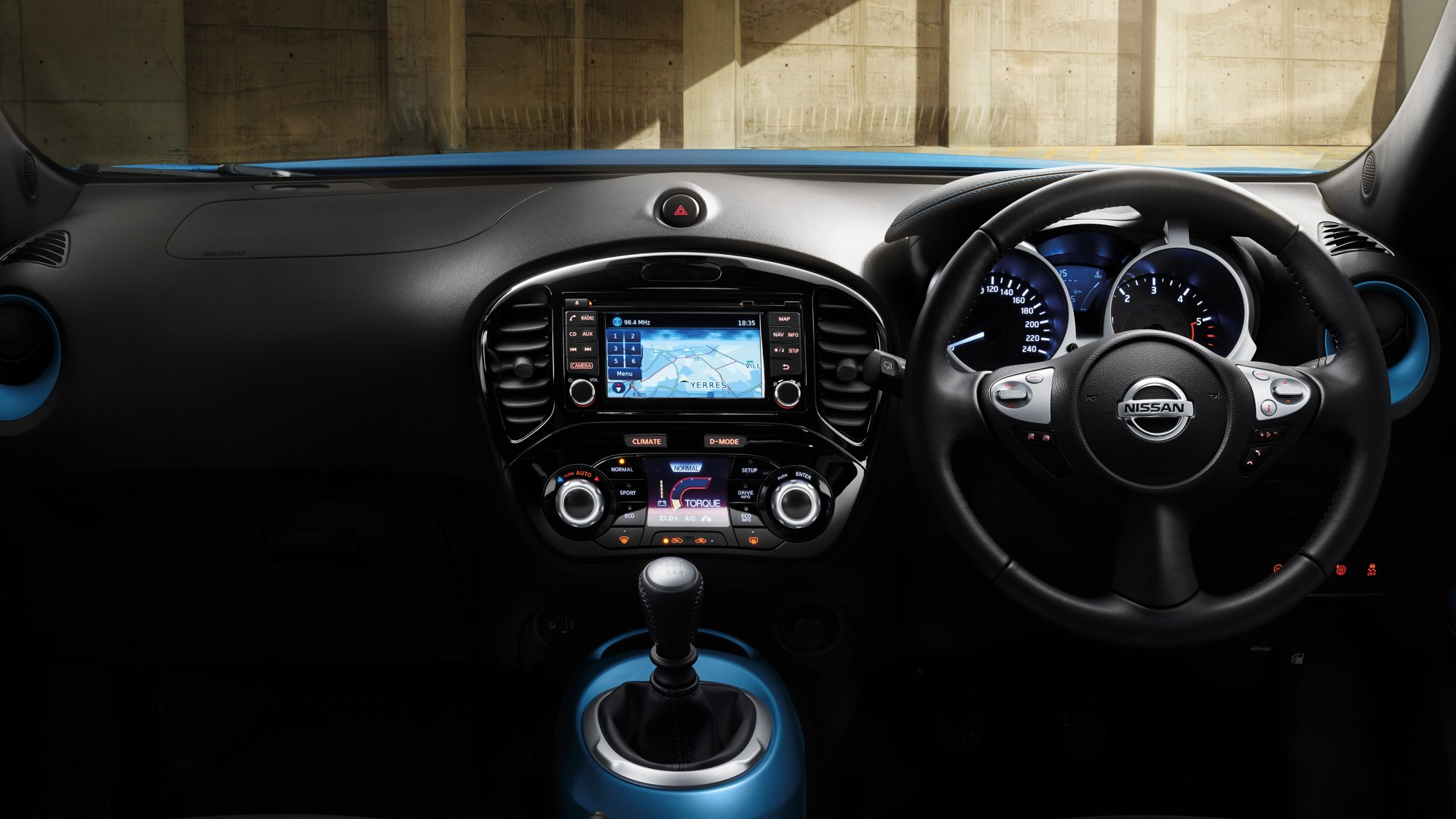 hight resolution of new nissan juke interior view of the dashboard