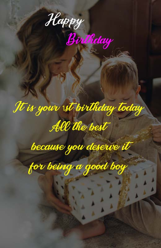 Birthday Message For Baby Boy From Mother : birthday, message, mother, First, Birthday, Quotes, Mother