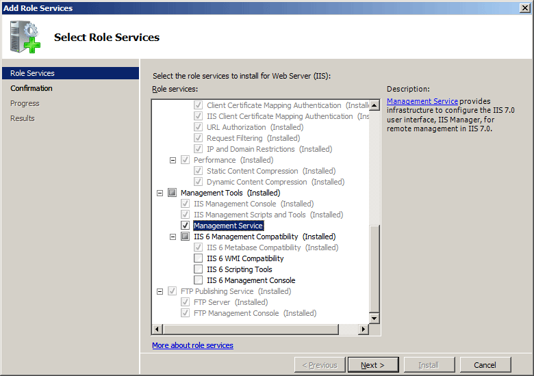 Management Authentication  The Official Microsoft IIS Site