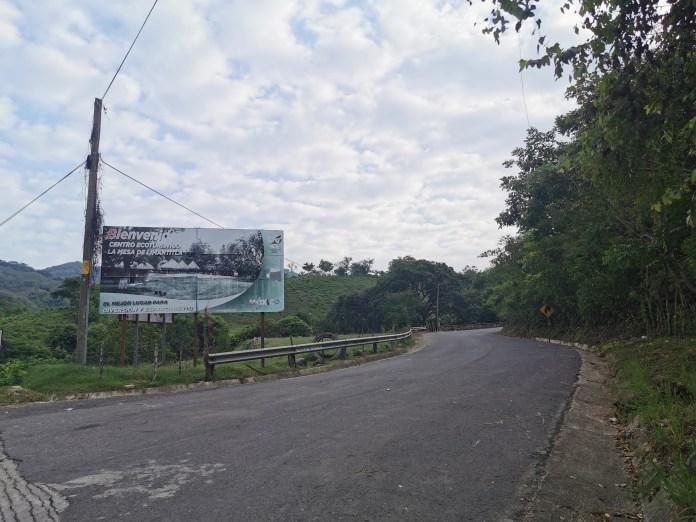 Entrance sign for La Mesa Limantitla