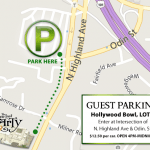 Parking Available at Hollywood Bowl - Lot B